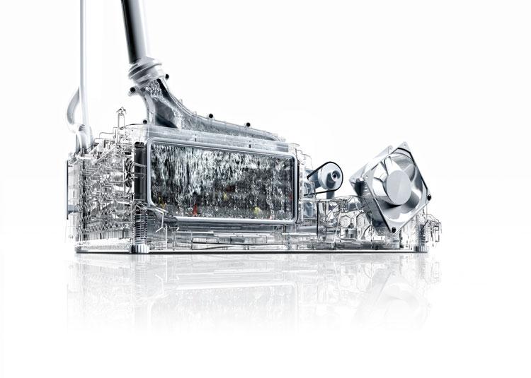 Condensador autolimpiante