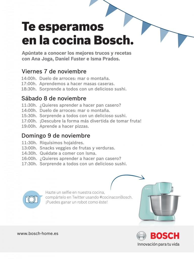 Talleres de cocina Bosch