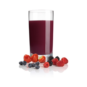 Receta de zumo de frutos del bosque con licuadora MES4000