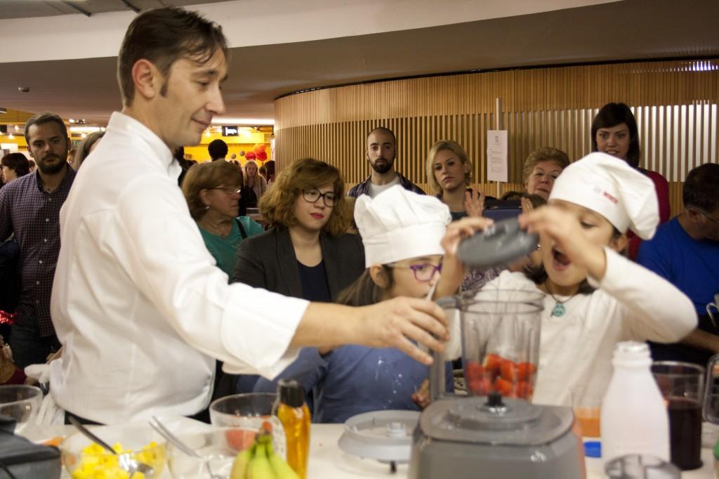Con Isma también aprendimos a hacer smoothies caseros.