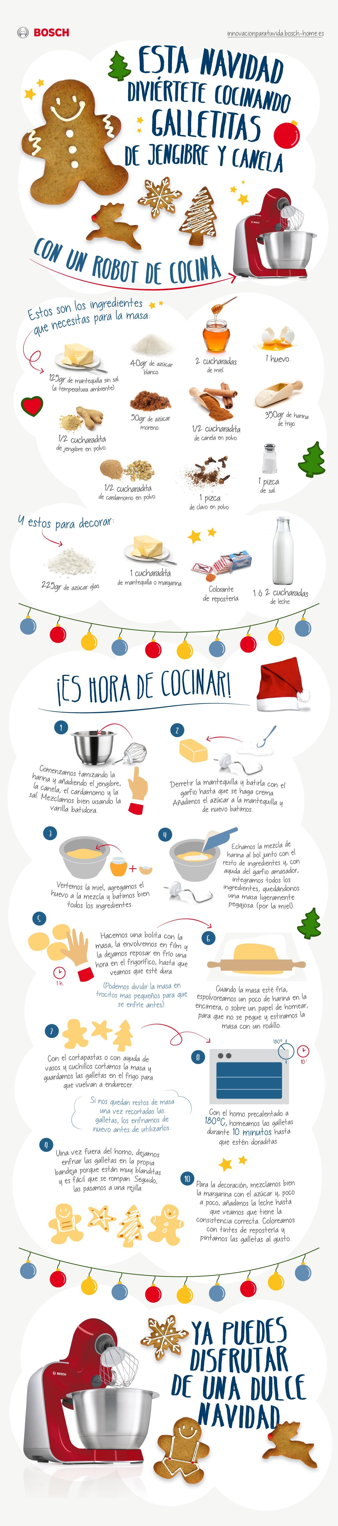 Prepara unas riquísimas galletas de Navidad con tu robot de cocina MUM5 y endulza estas fechas tan especiales.
