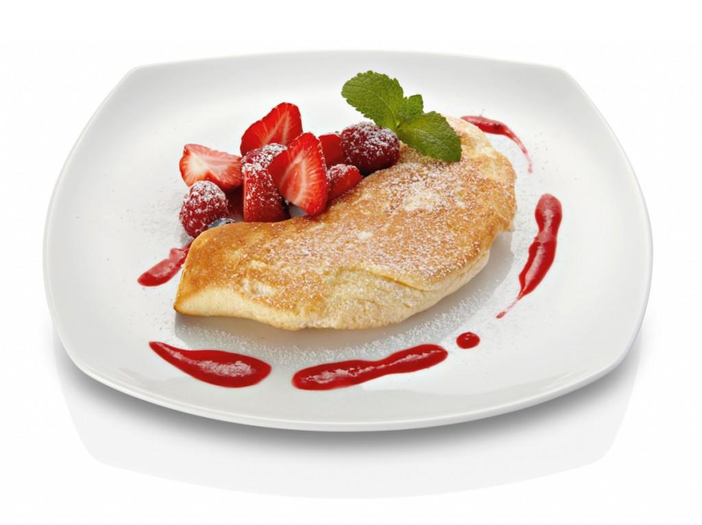 Souffle de tortilla con fresas