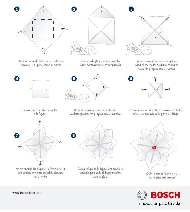 Paso a paso flor de origami