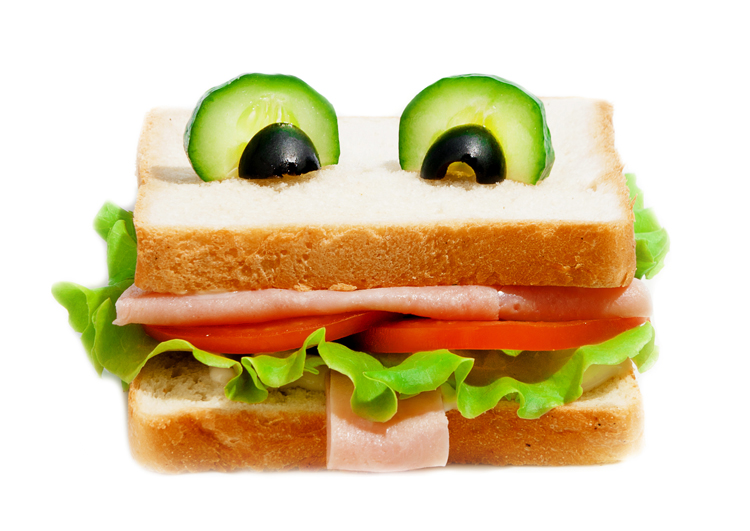 Sándwich divertido para niños