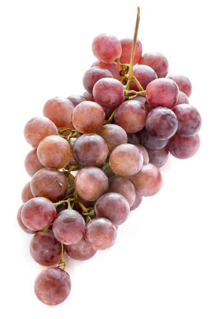 Las uvas son frutas de otoño.