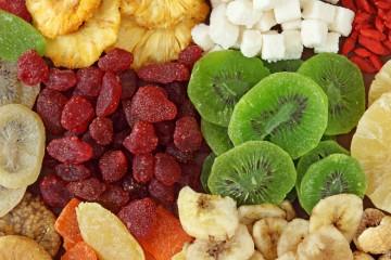 Frutas deshidratadas en casa