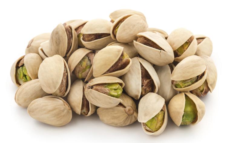 Los pistachos son un buen fruto seco para picar entre horas.