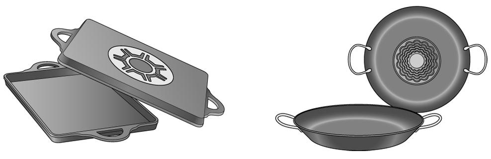 Recipientes para placas de inducción