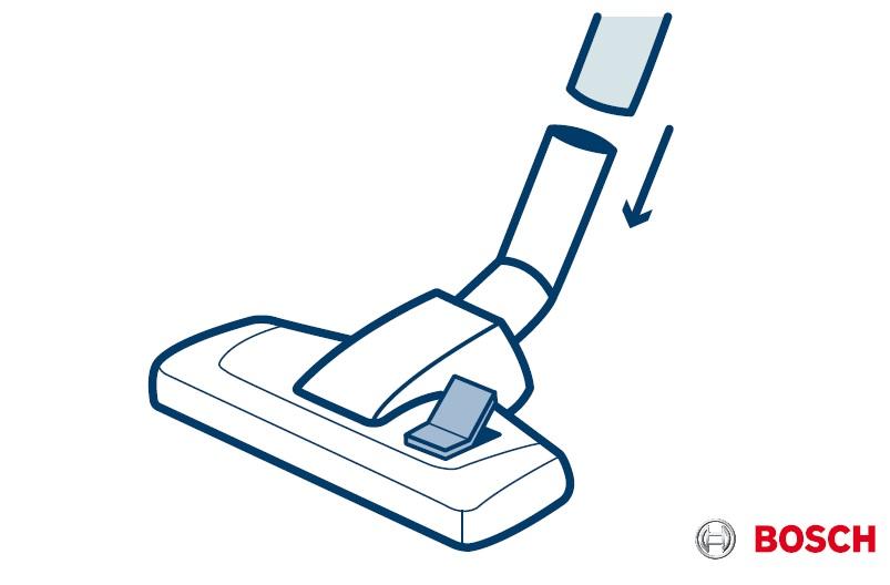 1. Colocar el cepillo conmutable