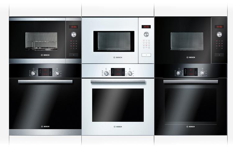 Los hornos y microondas Bosch combinan a la perfección si los instalas en columna.