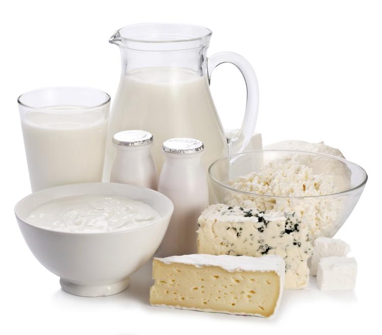 Toma de 2 a 3 porciones de lácteos al día.