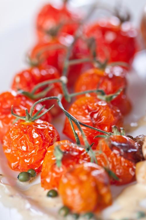 Tomates cherry asados