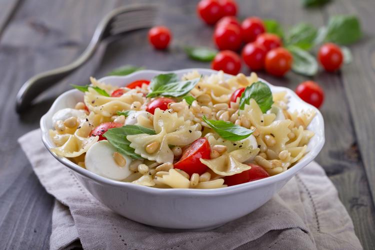 Tomates cherry con pasta