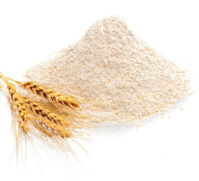 La harina de trigo es la más común