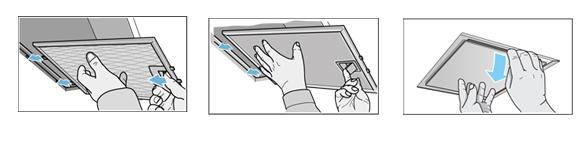 Limpiar los filtros de los módulos de extracción integrables