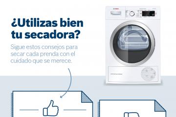 Consejos para utilizar bien tu secadora