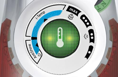 Función i-Temp Advanced de las planchas Bosch