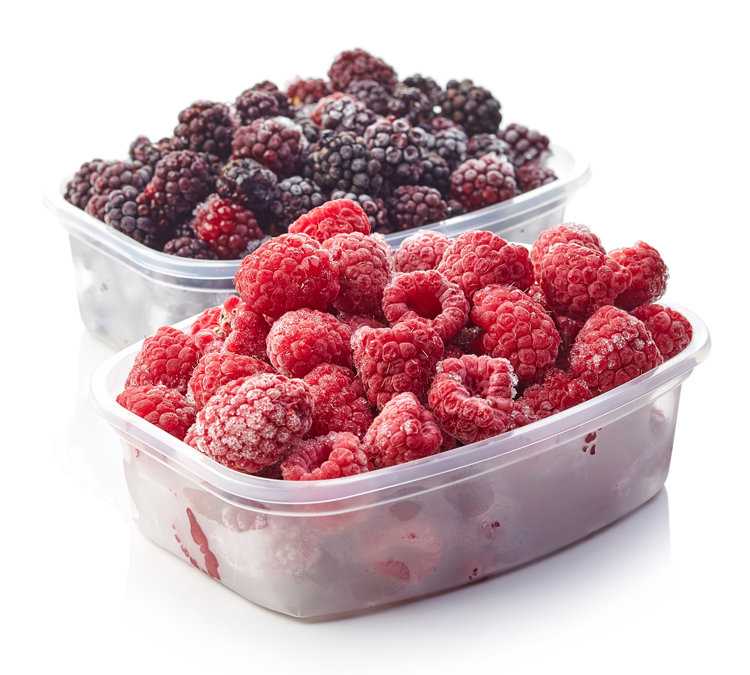 Frutos rojos congelados