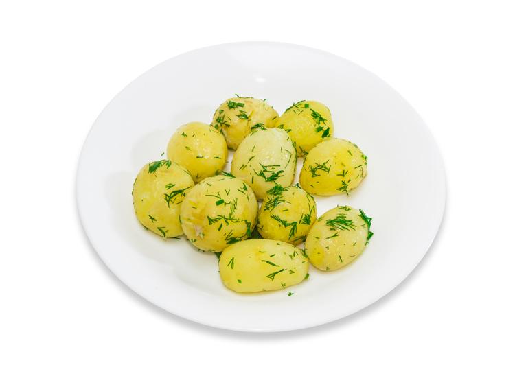 Patatas cocidas con tomillo