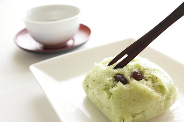 Mini de bizcochos de té verde