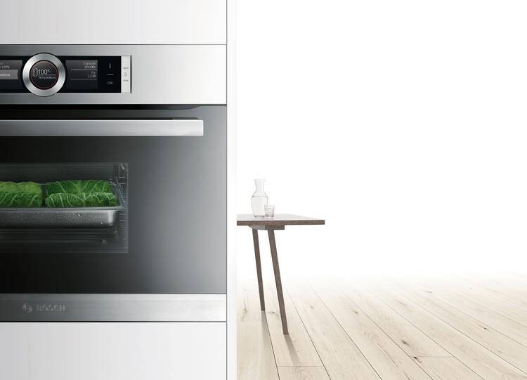 Cocinar al vapor con el horno de vapor Bosch
