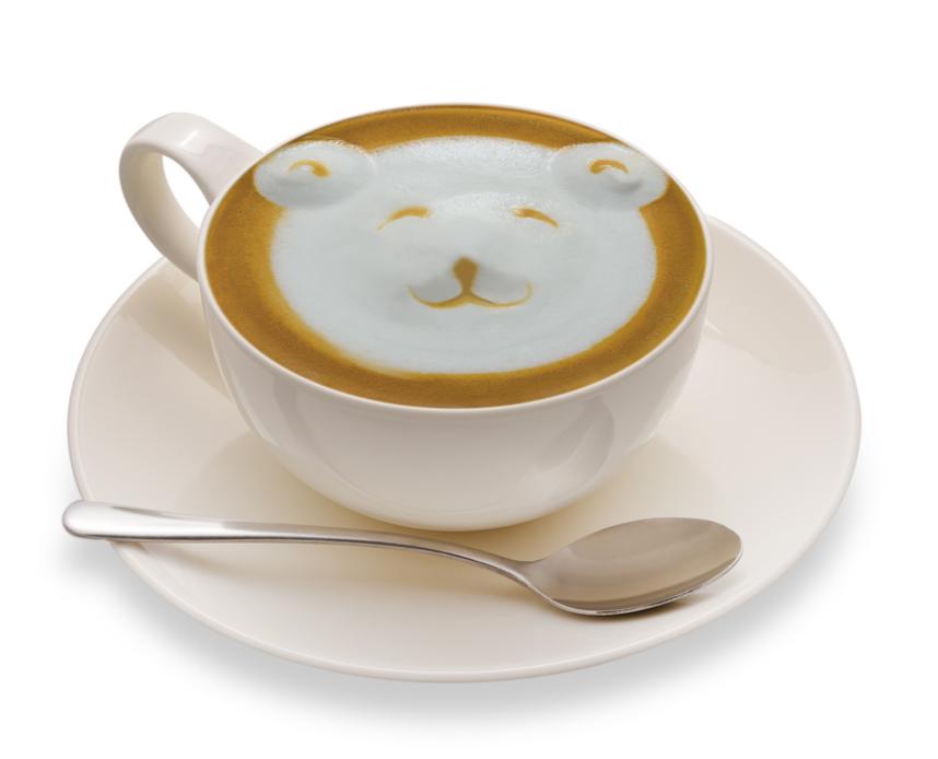 En el café puedes hacer todos los dibujos que quieras.