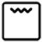 Icono de grill con microondas