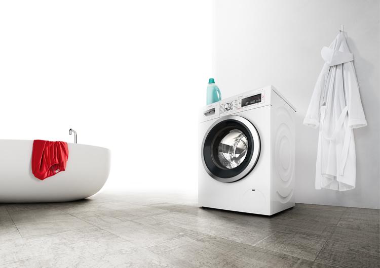 Crea un espacio a medida para instalar la lavadora en el baño