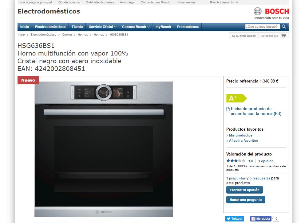 ¿Qué opinas de los electrodomésticos Bosch?