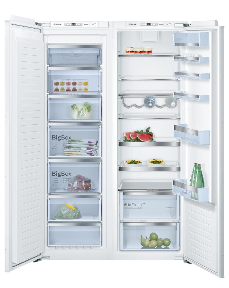 Instalar congelador vertical integrable para tener más espacio para los alimentos congelados