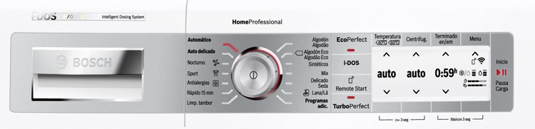 Las lavadoras Bosch tienen la función Pausa + Carga para añadir ropa después de poner la lavadora