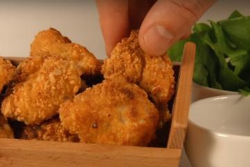 Receta sana de nuguets de pollo saludables