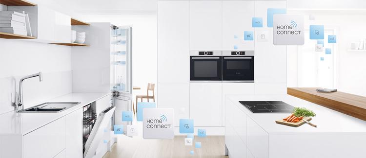 Cocina inteligente con los electrodomésticos conectados de Bosch