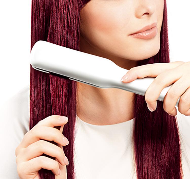 Consejos para planchar el pelo teñido
