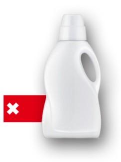 Cantidad ideal de detergente para lavar la ropa.