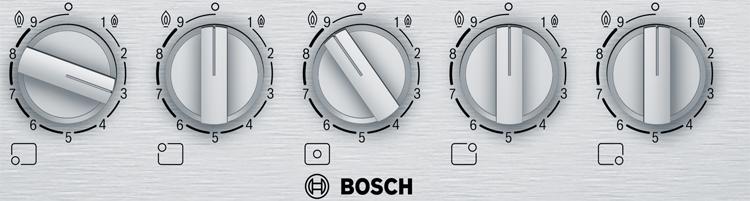 Placas Bosch con Flame select para regular la potencia de la llama