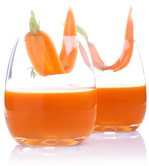 Chupito de zumo de zanahoria
