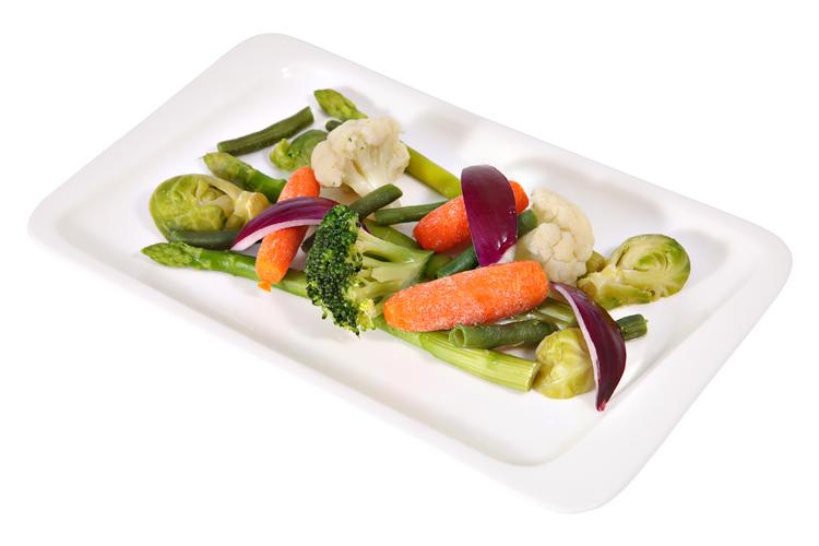 Cocinar verduras al vapor