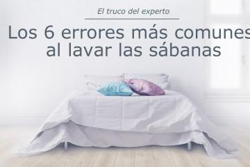 6 errores al lavar las sábanas