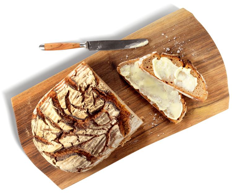 Pan de pueblo con miga esponjosa