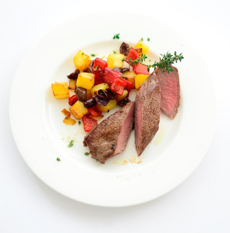 Alimentos cocinados a la plancha.
