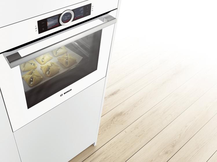 Modelo de horno en cristal en blanco
