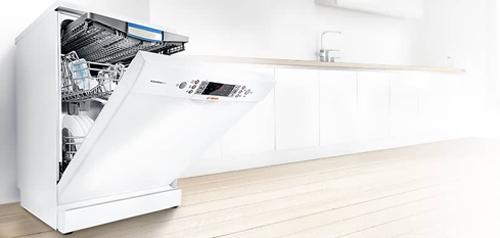 Lavavajillas de color blanco Bosch