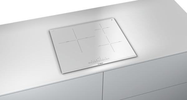Placa de cocina de color blanco
