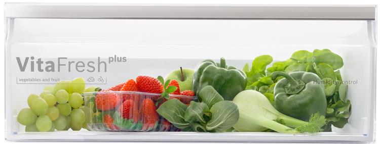 Cajón especial para frutas y verduras