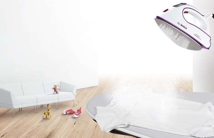 Función vapor para planchar mucha ropa