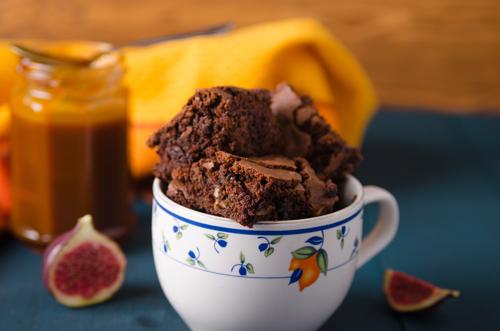 Receta de brownie en una taza