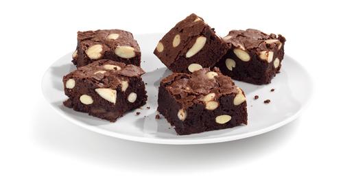 Receta de brownie con castañas