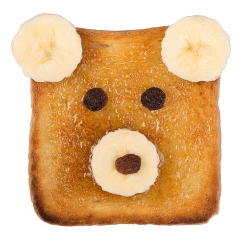 Tostada para un desayuno infantil