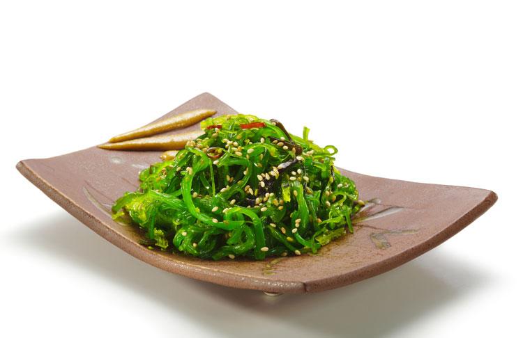 Algas en la comida japonesa